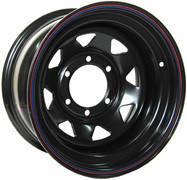 Диск колёсный стальной штампованный посадка  6x139.7   размер 8х16 вылет  ET- 19  центральное отверстие D 110 цвет: черный.