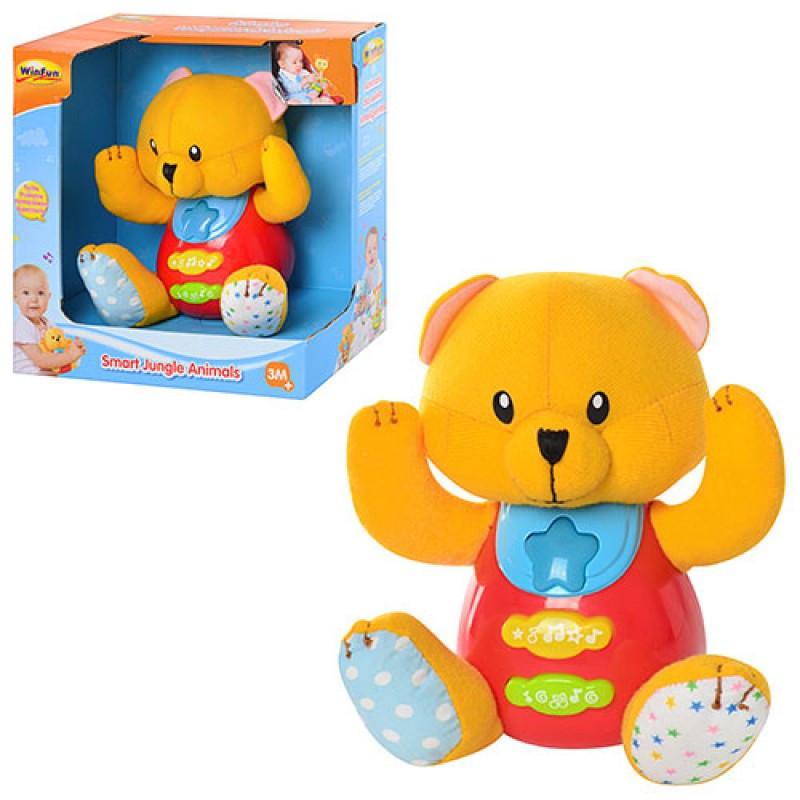 Развивающая игрушка медвежонок, Умные животные джунглей, музыка, свет, 0617-NL