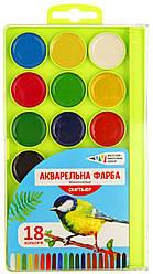 Акварель медовая 18 цветов, Гамма, 312086