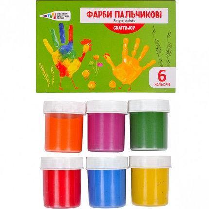 Краски пальчиковые 240мл, 6 цветов, 322074