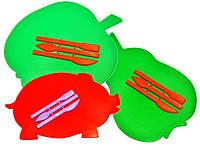 """Доска для пластилина,""""ЛЮКС"""" ( ЯБЛОКО, РЫБКА, ГРУША, ХРЮША ) +стеки, ДПФ-Ф"""