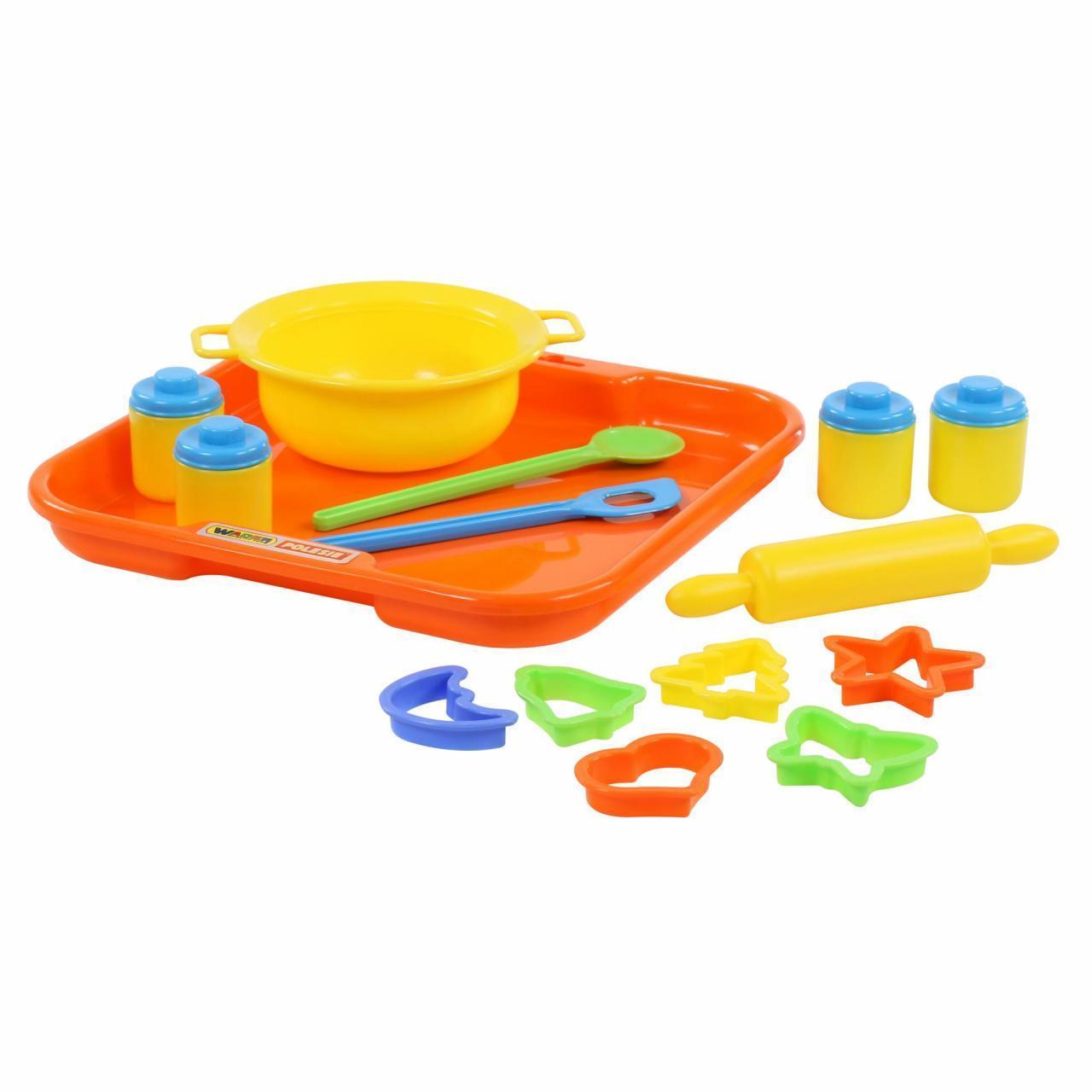 Набор детской посуды для выпечки №1 с подносом, Полесье, 40749