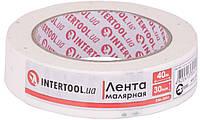Лента малярная Intertool - 30 мм x 40 м, белая