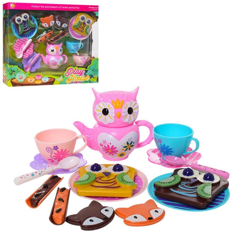 Детская посуда, чайный сервиз на 2 персоны, сладости, 6902