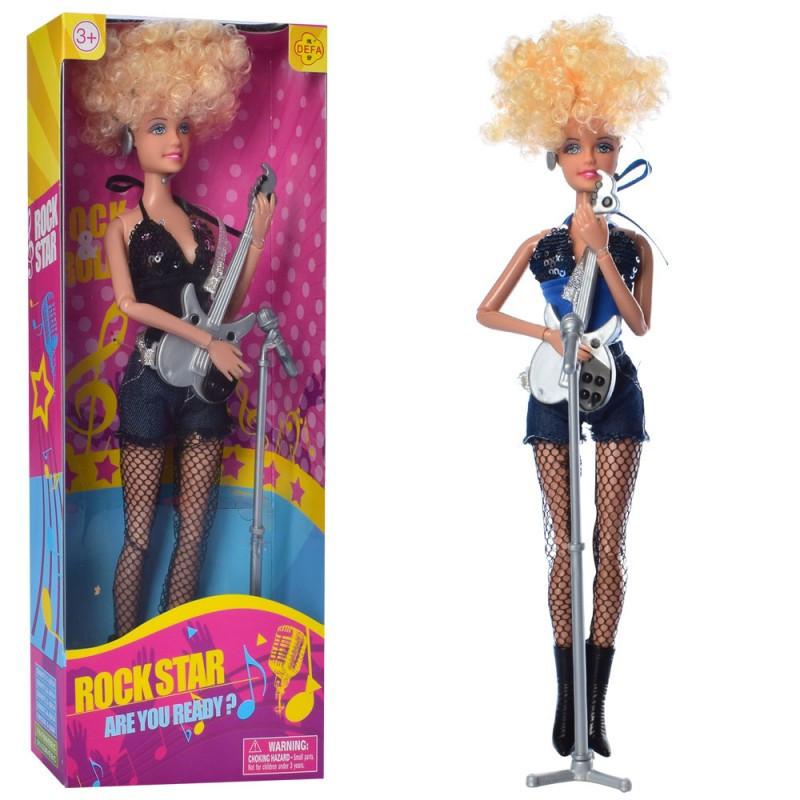 Кукла DEFA шарнирная, гитара, микрофон, 2вида, 8384-BF