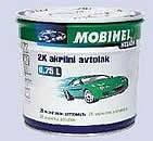 Акриловая автоэмаль MOBIHEL (мобихел) Чёрная № 601 (0,75 л) без отвердителя.