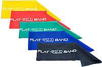 Резинка для фитнеса и спорта, лента-эспандер эластичная 4FIZJO Flat Band 200 см 5 шт 4FJ1127 - 227510
