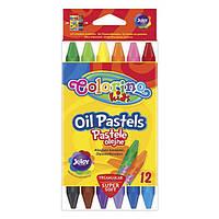 Олівці пастельні масляні 12 кольорів, COLORINO, 32636PTR