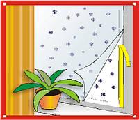 """Теплосберегающая пленка-экран для утепления окон """"Эко-терм"""". Комплект на одно окно"""