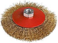 Щетка конусная Miol - 115 мм рифленая латунь