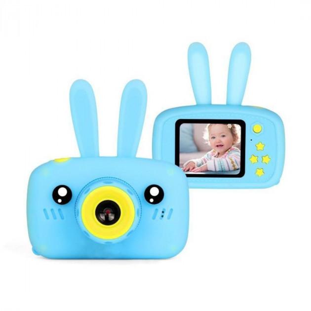 Детский фотоаппарат с 2 камерами Easy Smart Kids Cam FN812 с функцией видео и экраном (голубой)