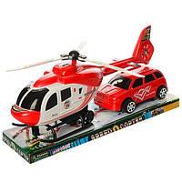 Набор транспорта инерционного, вертолет, машинка, 209-39