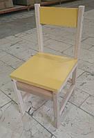 Стульчик детский, для детского сада (для старших групп), спинка и сидения из ДСП плиты, 171986