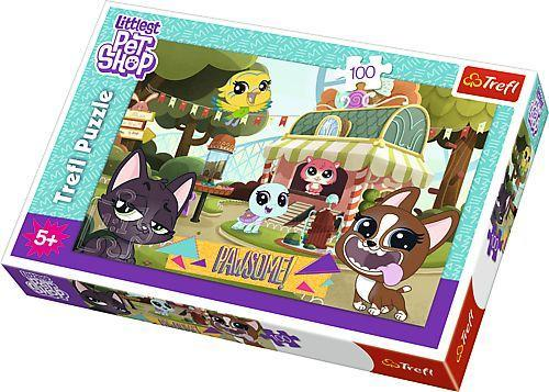 """Пазлы Trefl """"Развлечения в парке, Hasbro, Littlest Pet Shop"""", 100 деталей, 16338"""