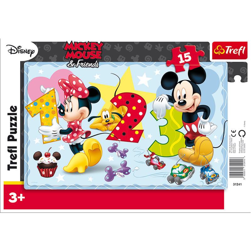 """Пазлы Trefl """"Disney Standard Characters"""", 15 деталей, 31241"""