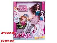"Кукла ""Lofea"", с ребенком, коляской и аксессуарами, 010"