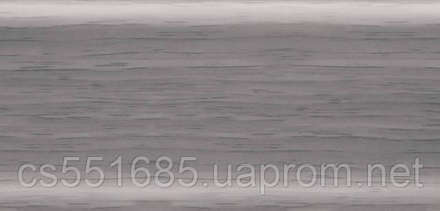 102- Ольха серая Плинтус напольный 56 мм с кабель-каналом Rico Leo