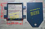 Задвижка печная металлическая большая (255х270 мм) печи, дымоход, мангал, барбекю, фото 2