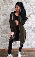 Женская кофта-пальто на флисе батал И Г, фото 1