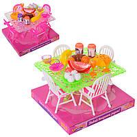 """Мебель для кукол """"Столовая"""", стол, стулья, продукты, A8-958"""