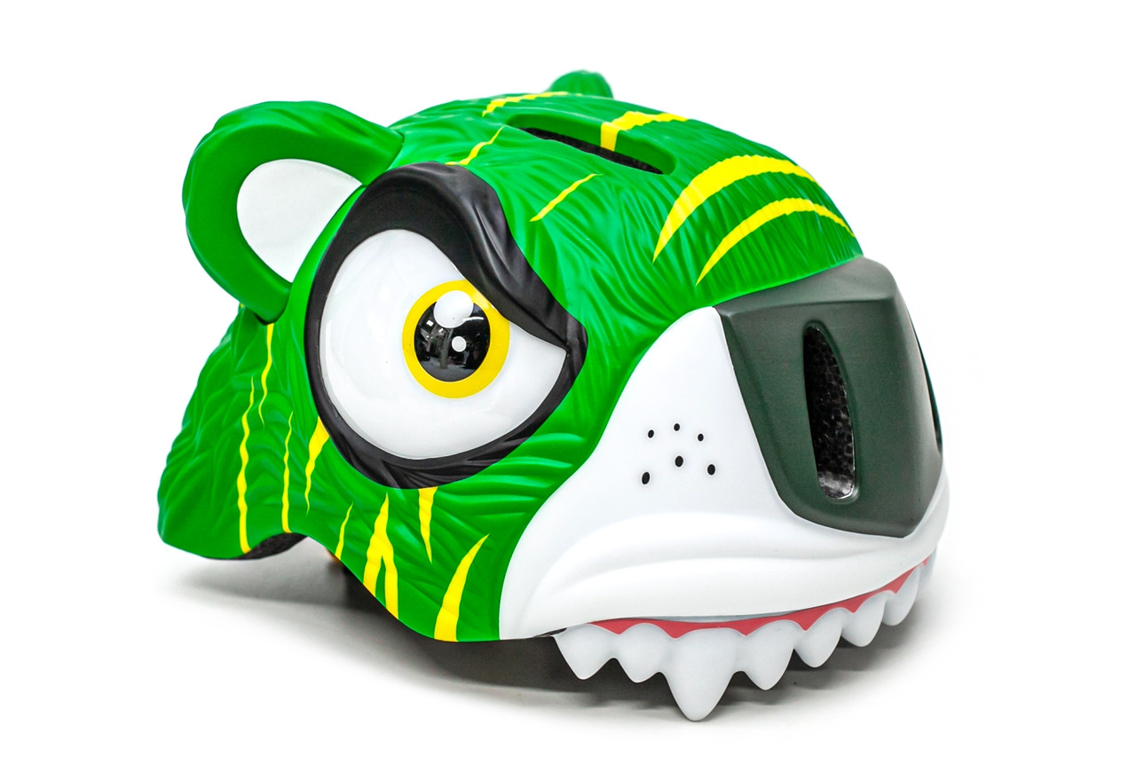 """Шлем велосипедный детский, CIGNA """"Зеленый тигр"""" (49-55 см)"""