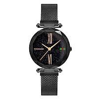 Стильные женские часы Starry Sky Watch черные Скай воч Vsem