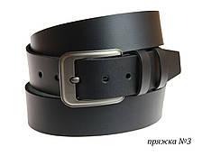 Ремень кожаный джинсовый SULLIVAN  RMK-31(7) 115-150 см черный