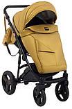 Универсальная детская коляска 2 в 1 Bair Crystal 100% кожа BC-40 золото перламутр - черный, фото 7