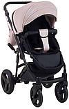 Универсальная детская коляска Bair Crystal 100% кожа BC-02 розовый перламутр - черный, фото 6