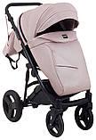 Универсальная детская коляска Bair Crystal 100% кожа BC-02 розовый перламутр - черный, фото 7