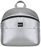 Универсальная детская коляска  Bair Crystal 100% кожа BC-31 серебро перламутр - черный, фото 8