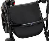 Универсальная детская коляска  Bair Crystal 100% кожа BC-31 серебро перламутр - черный, фото 9