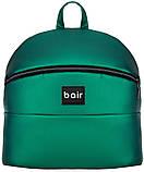 Универсальная детская коляска 2 в 1 Bair Crystal 100% кожа BC-35 зелёный перламутр - черный, фото 8