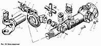 Передача карданная МАЗ L=2661мм и max ход 60мм (пр-во Белкард)