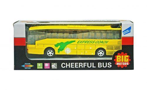 Автобус инерционный (желтый) XL80136L