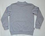 Дитячий джемпер для хлопчика DG-19-35-2 *Написи* (Розміри: 104, 110, 116) Колір - Сірий, фото 3