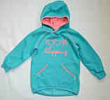 Детская толстовка для девочки TL-19-37 *Надписи* (цвет: Ментоловый, Размеры - 104, 110, 116), фото 3