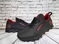Мужские  кожаные кеды ,кроссовки Jordan( реплика), фото 1