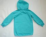 Детская толстовка для девочки TL-19-37 *Надписи* (цвет: Ментоловый, Размеры - 104, 110, 116), фото 5