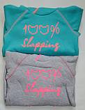 Детская толстовка для девочки TL-19-37 *Надписи* (цвет: Ментоловый, Размеры - 104, 110, 116), фото 6