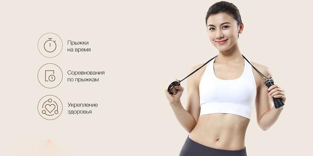 Скакалка скоростная Xiaomi Yunmai Sports Jump Rope Standart Version, Черная, YMHR-P702