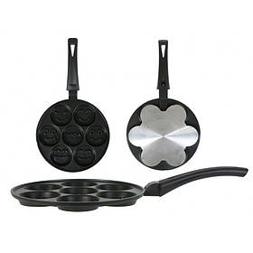 Сковорода для оладок зі смайлами Біол З-24П