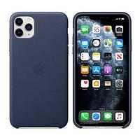 Накладка для iPhone 11 Pro Max Leather Case (MX0G2ZM/A) Midnight Blue