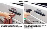 4 штук Авто плівка захисна 95 x 85см броні ударостійка, фото 4