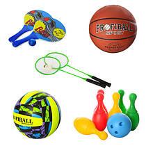 Активные виды спорта, мячи, бадминдтон, пинг-понг, кольцебросы, боулинг, дартс