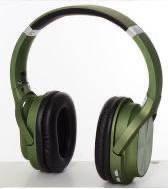 Наушники беспроводные Bluetooth ЗЕЛЕНЫЕ арт. 3809
