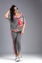 """Летний брючный женский костюм """"LARA"""" с блузой (большие размеры), фото 2"""