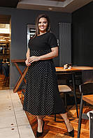 Нарядное платье удлиненное большие размеры нв465