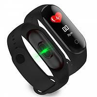 M4 Smart BAND Fit Bracelet black, фитнес браслет трекер часы, влагозащищенный, цветной экран, шагомер, пульсом