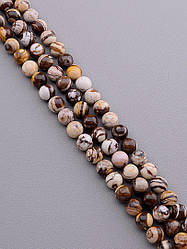 Нить из натуральных камней заготовка для бус и браслетов Яшма 38 см. 12 мм.